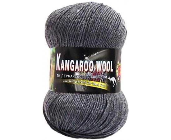 Пряжа COLOR CITY KANGAROO WOOL 2901 темно-серый меланж, Цвет: 2901 темно-серый меланж