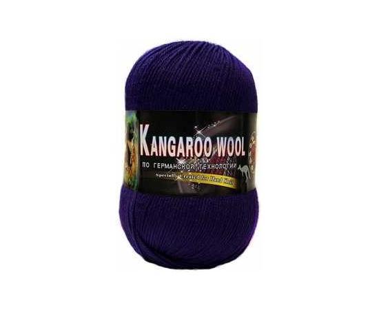 Пряжа COLOR CITY KANGAROO WOOL 2611 т.фиолетовый, Цвет: 2611 т.фиолетовый