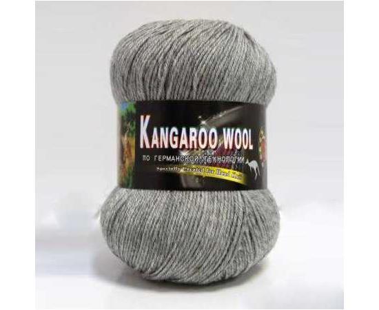 Пряжа COLOR CITY KANGAROO WOOL 29602 серый меланж, Цвет: 29602 серый меланж