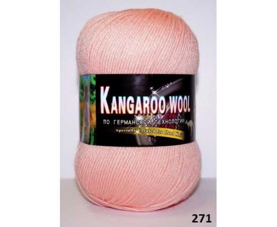Пряжа COLOR CITY KANGAROO WOOL 271 персиковый, Цвет: 271 персиковый