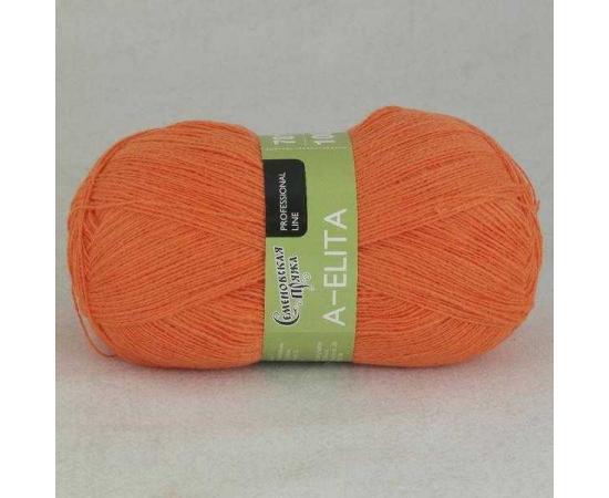 Пряжа Семеновская АЭЛИТА 670 морковный, Цвет: 670 морковный