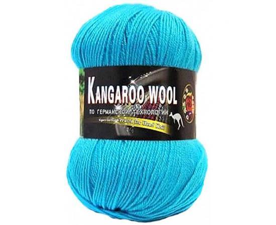Пряжа COLOR CITY KANGAROO WOOL 318 бирюза, Цвет: 318 бирюза