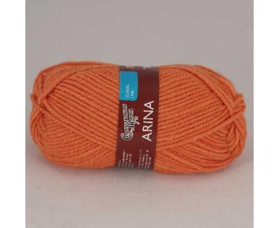 Пряжа Семеновская АРИНА ПШ 670 морков., Цвет: 670 морков.