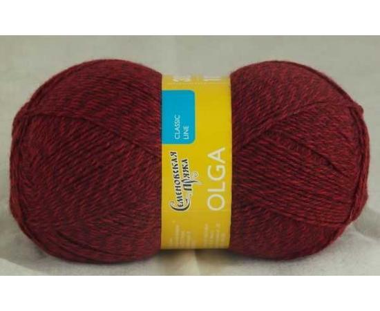 Пряжа Семеновская ОЛЬГА ПШ 9725 мозаика888 (вишневый), Цвет: 9725 мозаика888 (вишневый)