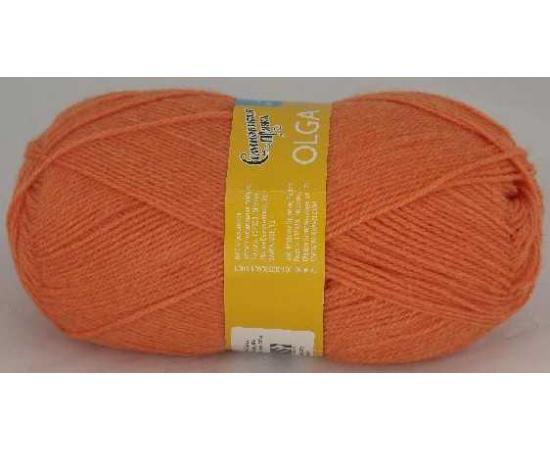 Пряжа Семеновская ОЛЬГА ПШ 670 морковный, Цвет: 670 морковный