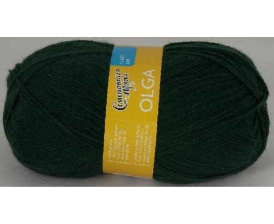 Пряжа Семеновская ОЛЬГА ПШ 62 темно-зеленый, Цвет: 62 темно-зеленый