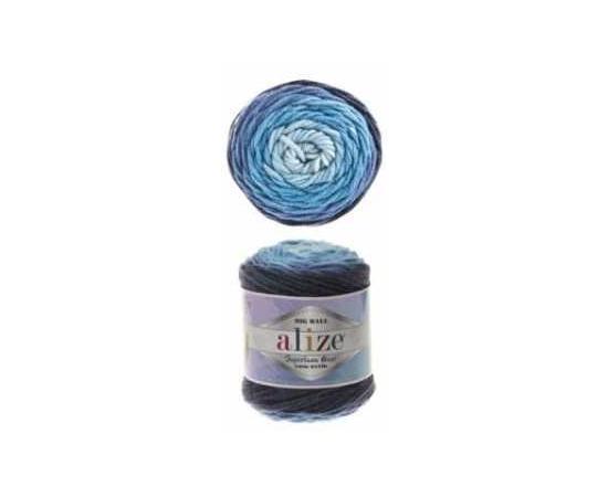 Пряжа ALIZE SUPERLANA MAXI LONG BATIK 6773 синий, Цвет: 6773 синий, изображение 2