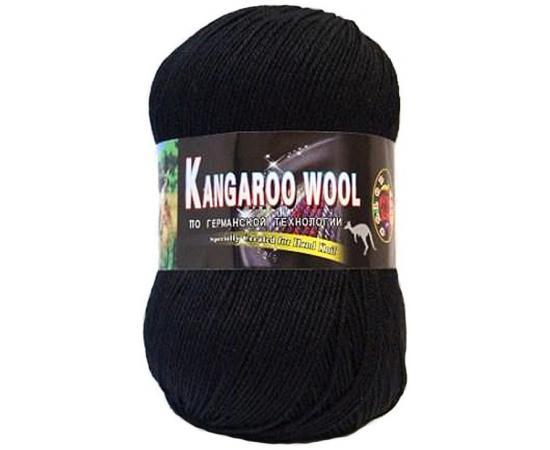 Пряжа COLOR CITY KANGAROO WOOL 2622 черный, Цвет: 2622 черный
