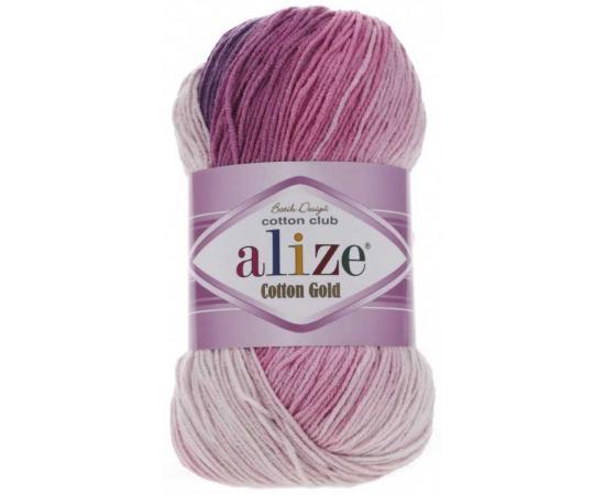 Пряжа ALIZE COTTON GOLD BATIK 3302 роз/сир/бел, Цвет: 3302 роз/сир/бел