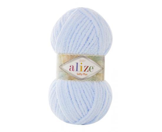 Пряжа ALIZE SOFTY PLUS 183 неж.голубой, Цвет: 183 неж.голубой