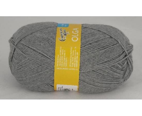 Пряжа Семеновская ОЛЬГА ПШ 380 м.серый, Цвет: 380 м.серый