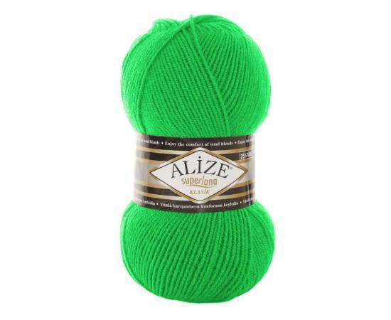 Пряжа ALIZE SUPERLANA KLASIK 103 зеленый неон, Цвет: 103 зеленый неон