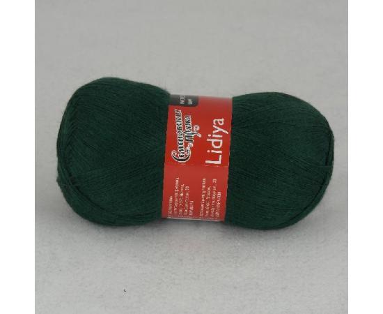 Пряжа Семеновская ЛИДИЯ ПШ 62 т.зеленый, Цвет: 62 т.зеленый