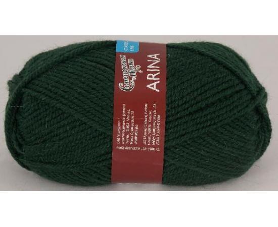 Пряжа Семеновская АРИНА ПШ 62 т.зеленый, Цвет: 62 т.зеленый