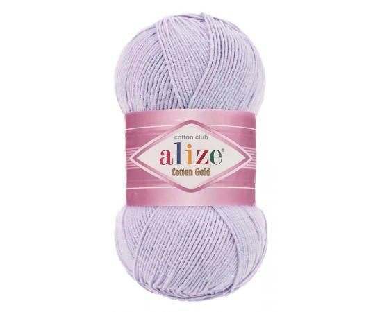 Пряжа Alize Cotton Gold - 682 св.сиреневый, Цвет: 682 св.сиреневый