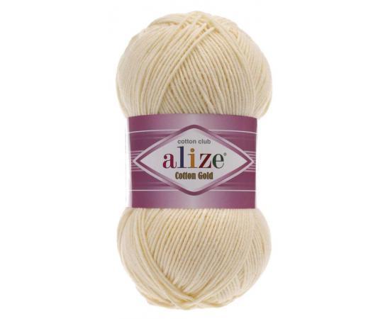 Пряжа Alize Cotton Gold - 458 слоновая кость, Цвет: 458 слоновая кость
