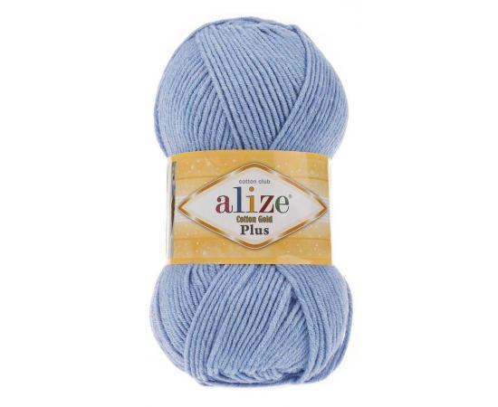 Пряжа Alize Cotton Gold Plus - 40 голубой, Цвет: 40 голубой