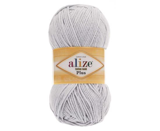 Пряжа Alize Cotton Gold Plus - 200 св.серый, Цвет: 200 св.серый