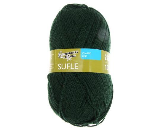 Пряжа Семеновская Суфле - 62 т.зеленый, Цвет: 62 т.зеленый