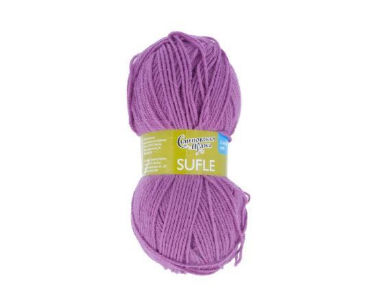 Пряжа Семеновская Суфле - 247 пурпурн, Цвет: 247 пурпурн