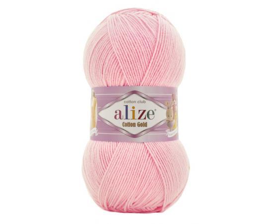 Пряжа Alize Cotton Gold - 518 св.розовый, Цвет: 518 св.розовый