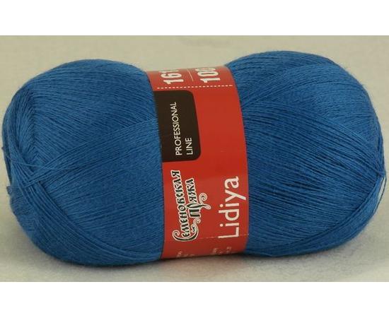 Пряжа Семеновская Лидия Пш - 16375 классический синий, Цвет: 16375 классический синий