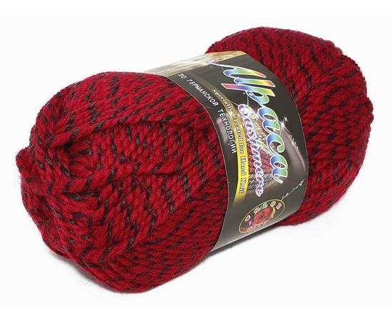 Пряжа Color-City Альпака Кашемир - 575 черн/красный меланж, Цвет: 575 черн/красный меланж