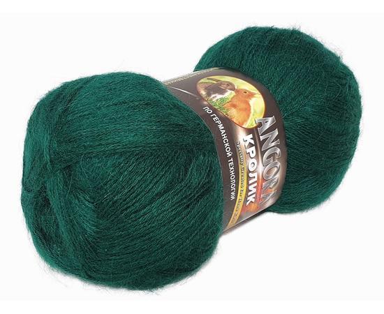 Пряжа Color-City Ангора Кролик - 2421 тем.зеленый, Цвет: 2421 тем.зеленый