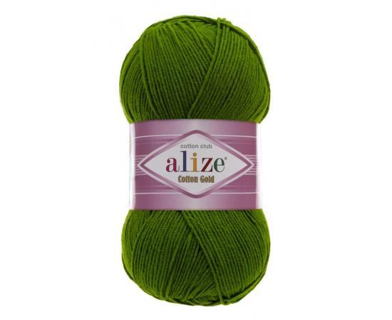 Пряжа Alize Cotton Gold - 35 зеленый, Цвет: 35 зеленый