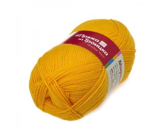 Пряжа Троицкая Мираж - 0596 желтый, Цвет: 0596 желтый