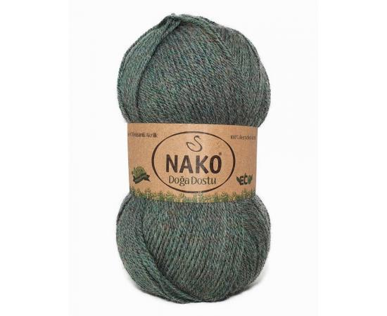 Пряжа Doga Dostu - 40010 серо-зеленый, Цвет: 40010 серо-зеленый
