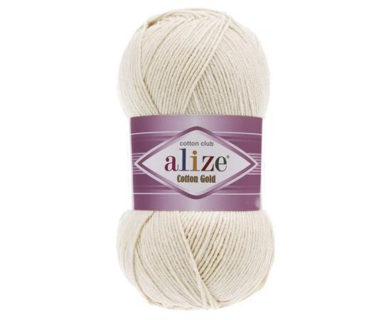Пряжа Alize Cotton Gold - 599 слоновая кость, Цвет: 599 слоновая кость