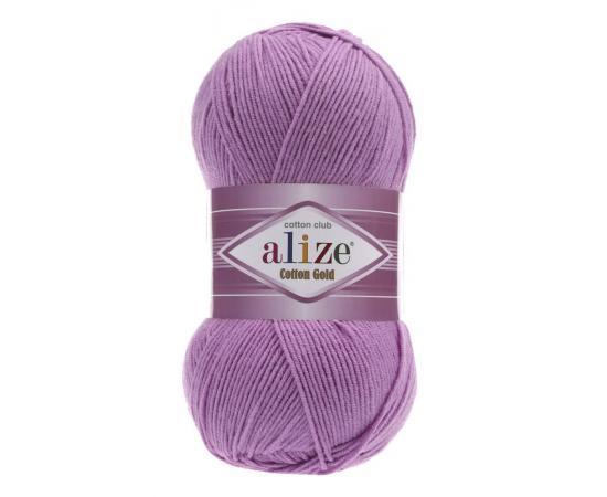 Пряжа Alize Cotton Gold - 43 сиреневый, Цвет: 43 сиреневый