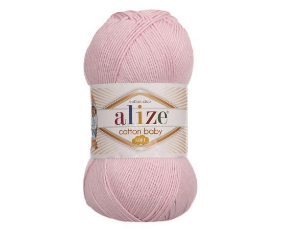 Пряжа Alize Cotton Baby Soft - 185 розовый, Цвет: 185 розовый
