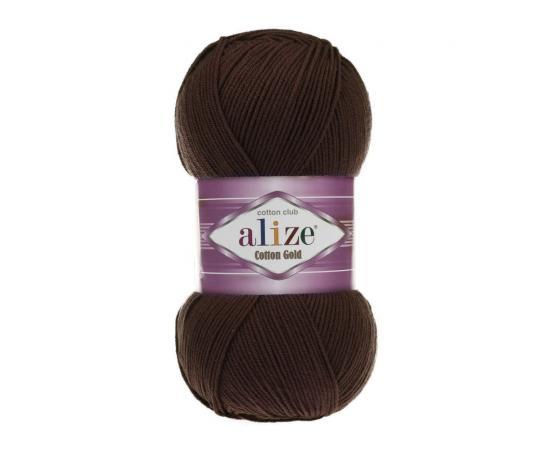 Пряжа Alize Cotton Gold - 26 коричневый, Цвет: 26 коричневый