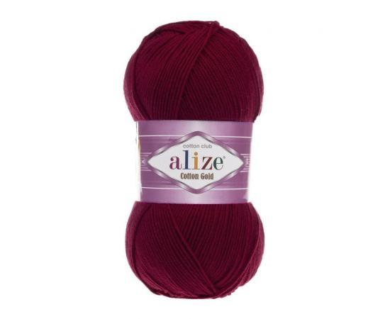 Пряжа Alize Cotton Gold - 57 бордо, Цвет: 57 бордо