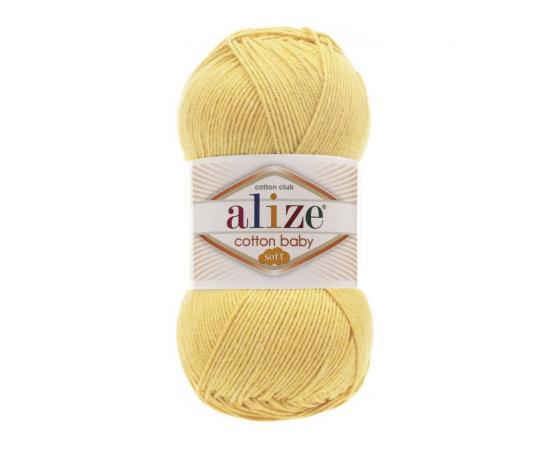 Пряжа Alize Cotton Baby Soft - 250 желтый, Цвет: 250 желтый