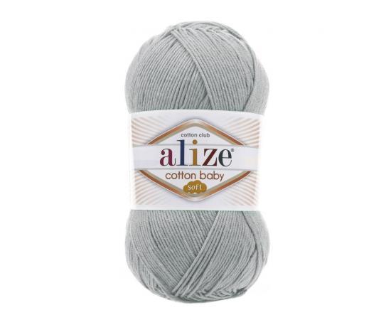 Пряжа Alize Cotton Baby Soft - 344 серое небо, Цвет: 344 серое небо