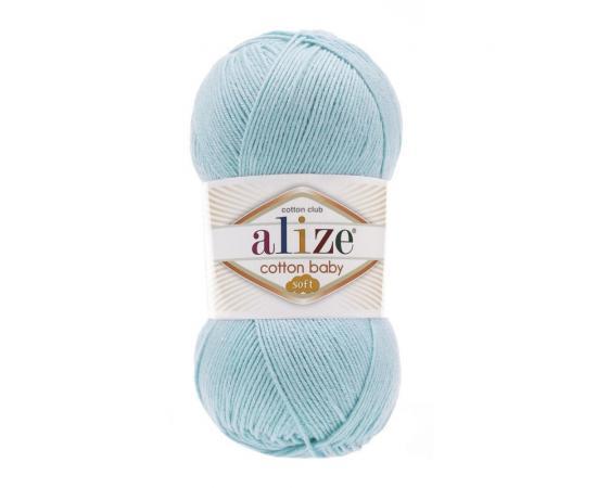 Пряжа Alize Cotton Baby Soft - 40 голубой, Цвет: 40 голубой