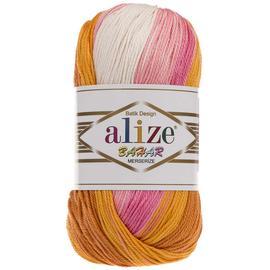 Пряжа Alize Bahar Batik - 6789 оранж/розовый, Цвет: 6789 оранж/розовый