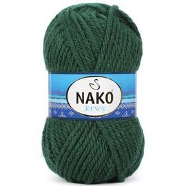 Пряжа Nako Jersey - 3601 темно-зеленый, Цвет: 3601 темно-зеленый