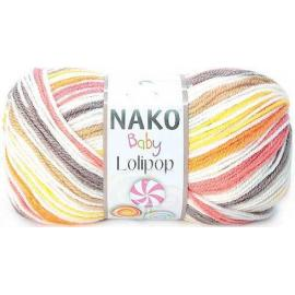 Пряжа Nako Lolipop - 81118 рыж/желт/коричн, Цвет: 81118 рыж/желт/коричн