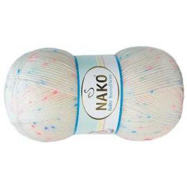 Пряжа Nako Baby Tweed - 31739 бел/роз/голубой, Цвет: 31739 бел/роз/голубой