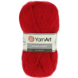 Пряжа Yarnart Mohair Classic - 105 красный, Цвет: 105 красный