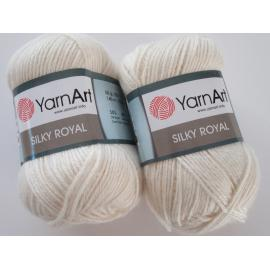 Пряжа Yarnart Silky Royal - 430 кремовый, Цвет: 430 кремовый