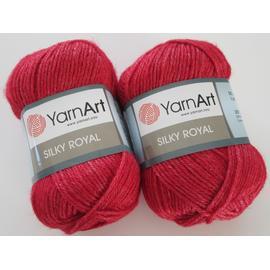 Пряжа Yarnart Silky Royal - 433 вишня, Цвет: 433 вишня