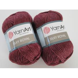 Пряжа Yarnart Silky Royal - 444 бордо, Цвет: 444 бордо
