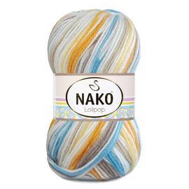 Пряжа Nako Lolipop - 80439 желт/какао/бир, Цвет: 80439 желт/какао/бир