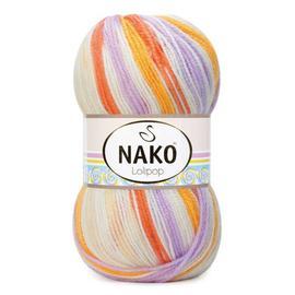 Пряжа Nako Lolipop - 81631 оранж/коралл/сирень, Цвет: 81631 оранж/коралл/сирень