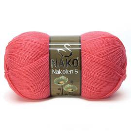 Пряжа Nako Nakolen 5 - 11200 коралл, Цвет: 11200 коралл